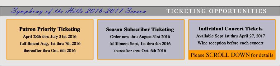 ticketing opportunities